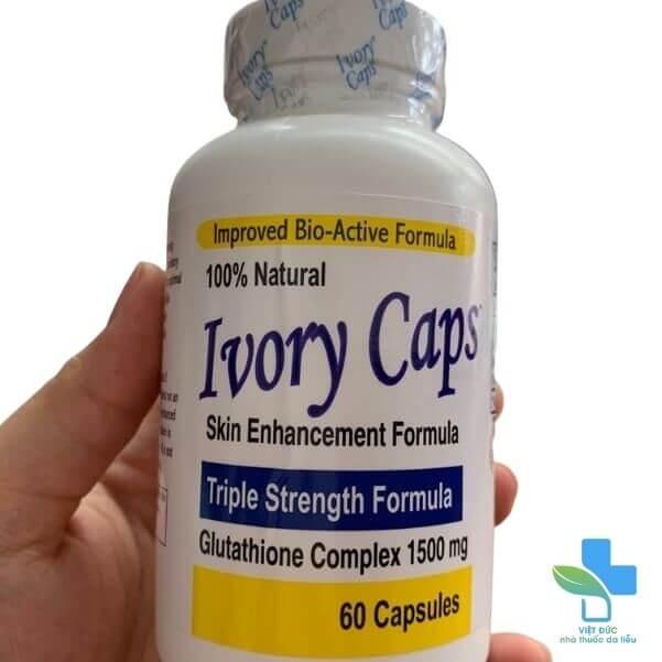 Vien-uong-trang-da-Ivory-Caps-gia